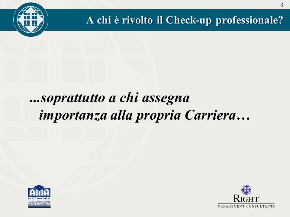 6 A chi è rivolto il Check-up professionale ...soprattutto a chi assegna importanza alla propria Carriera…