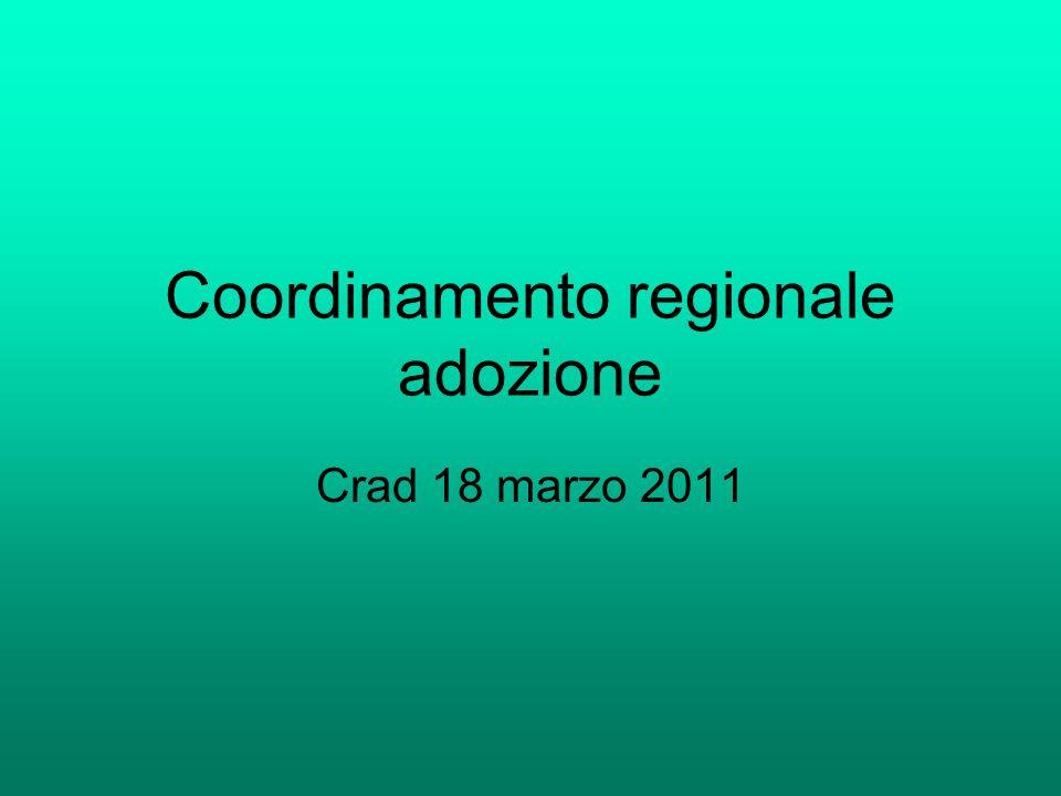 Coordinamento regionale adozione Crad 18 marzo 2011