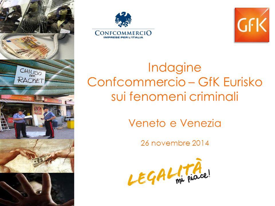 Premessa e obiettivi Nel 2007 Confcommercio ha realizzato, con il supporto di GfK Eurisko, un'indagine sulla criminalità che colpisce le imprese del commercio, del turismo, dei servizi e dei trasporti.