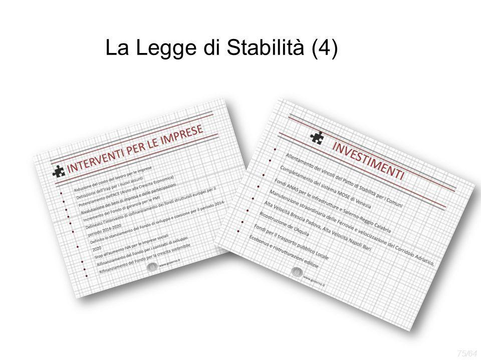 La Legge di Stabilità (4) 75/64