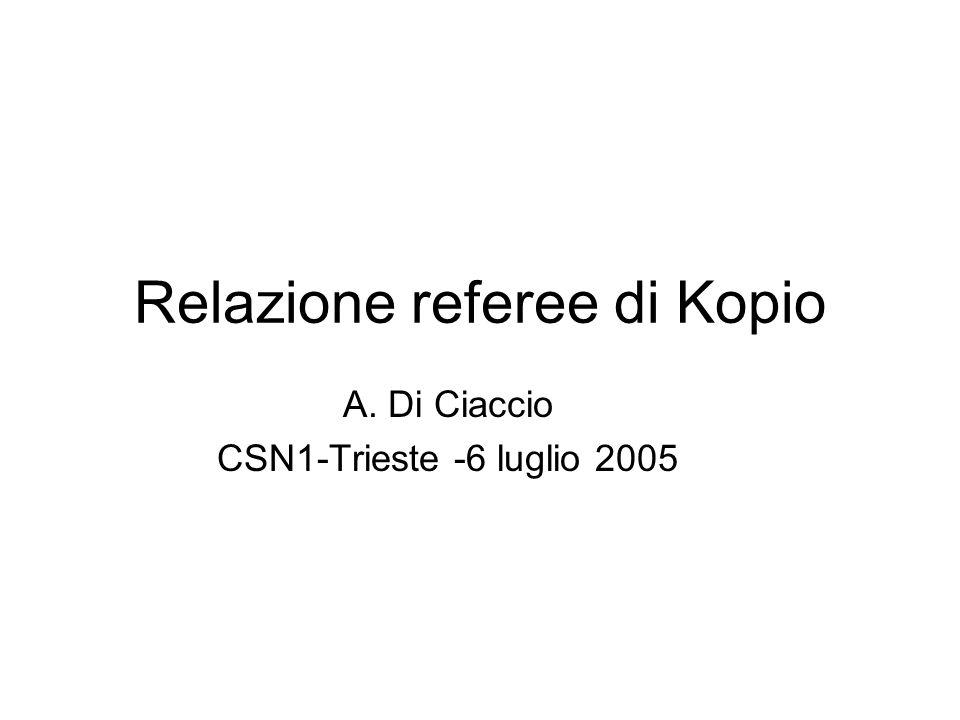 Relazione referee di Kopio A. Di Ciaccio CSN1-Trieste -6 luglio 2005