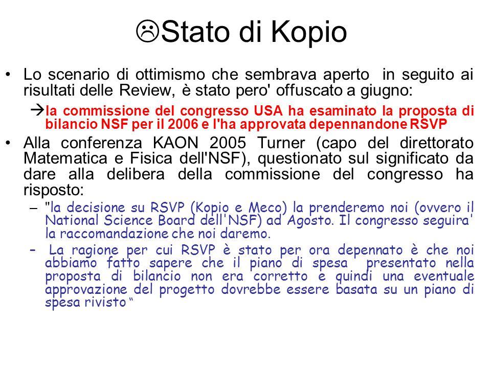  Stato di Kopio Lo scenario di ottimismo che sembrava aperto in seguito ai risultati delle Review, è stato pero' offuscato a giugno:  la commissione