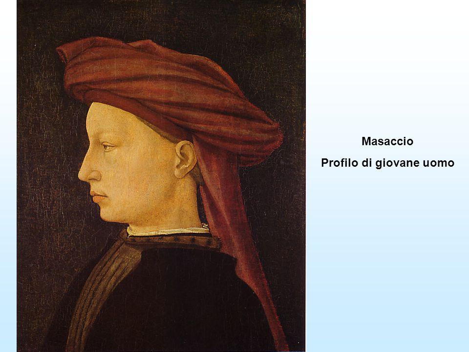 Masaccio Profilo di giovane uomo