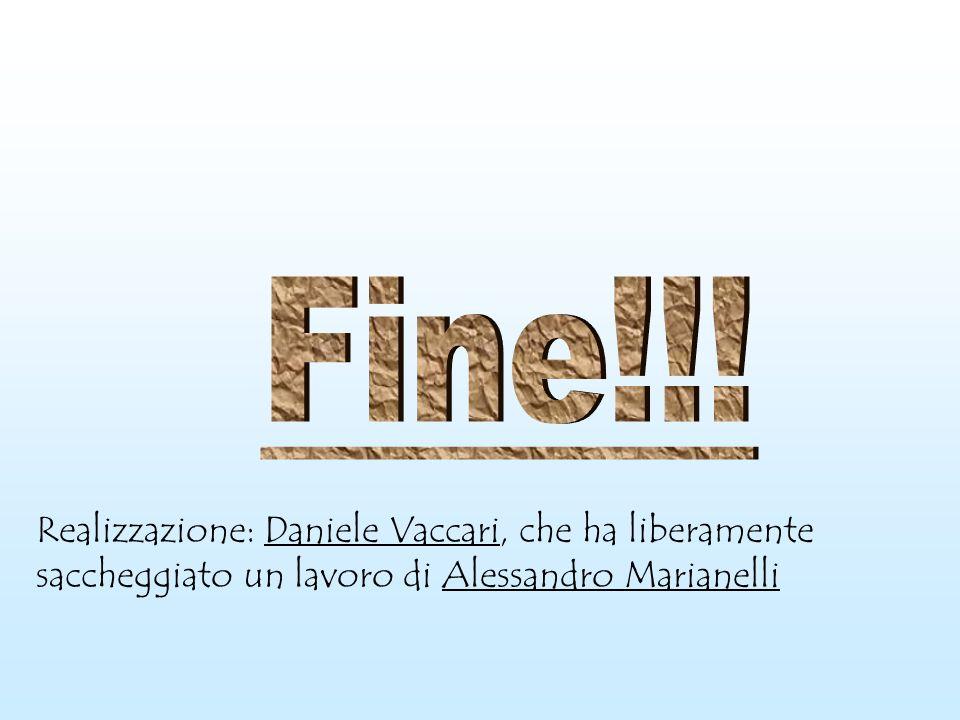 Realizzazione: Daniele Vaccari, che ha liberamente saccheggiato un lavoro di Alessandro Marianelli