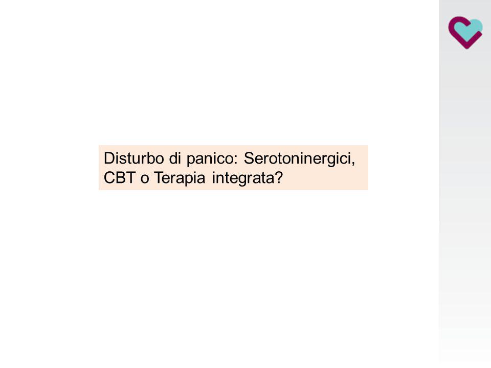 Disturbo di panico: Serotoninergici, CBT o Terapia integrata?