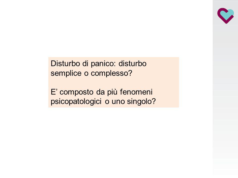 Disturbo di panico: disturbo semplice o complesso? E' composto da più fenomeni psicopatologici o uno singolo?