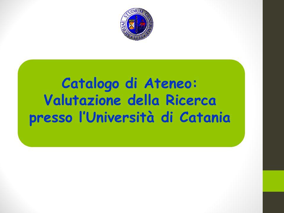 Catalogo di Ateneo: Valutazione della Ricerca presso l'Università di Catania