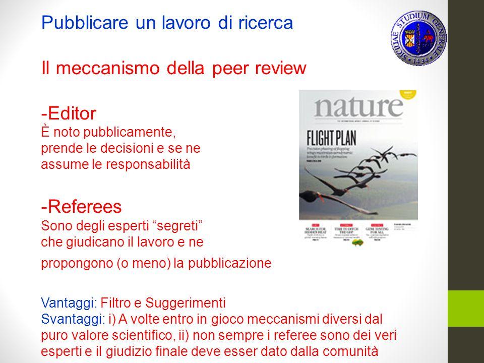 """numero di articoli pubblicati su riviste indicizzate"""". 5.Nella colonna 4 si riportano i valori della medianadell'indicatore """"numero di citazioni della"""