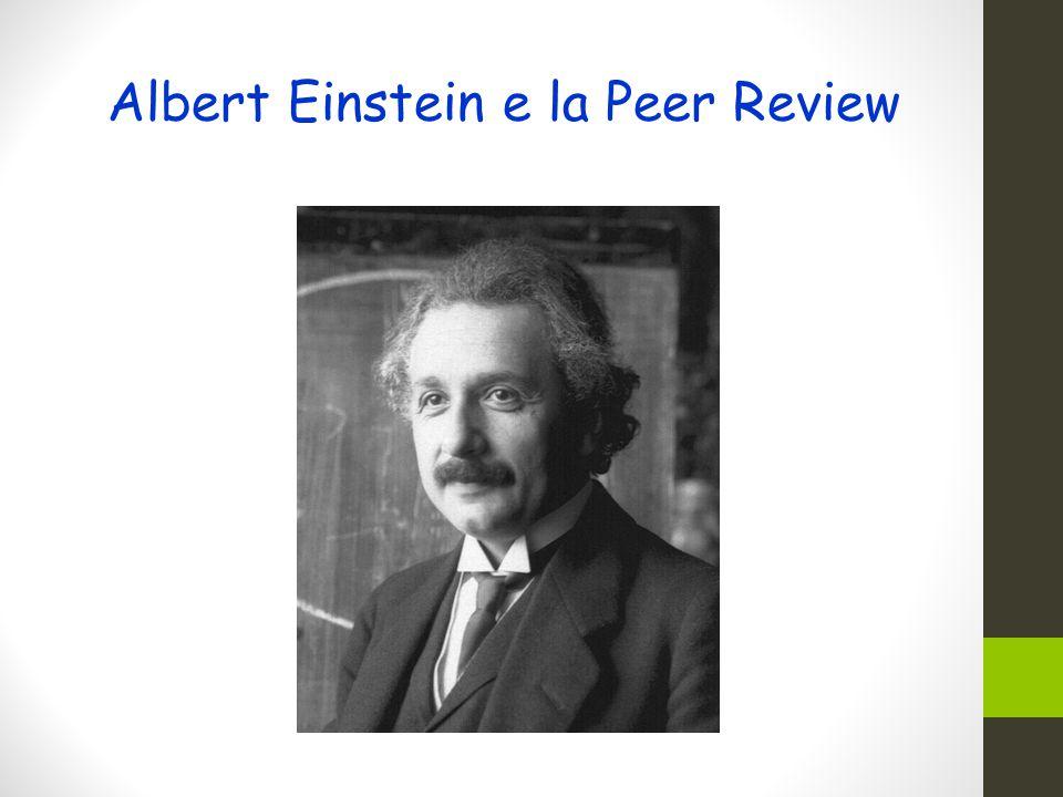 Albert Einstein e la Peer Review