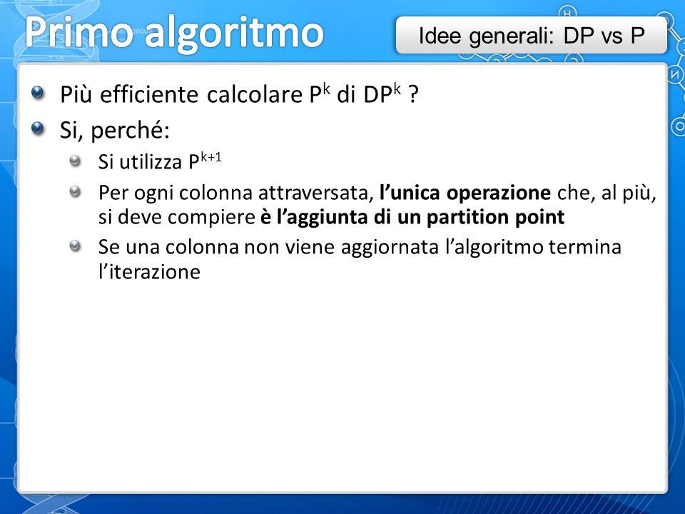 Più efficiente calcolare P k di DP k .