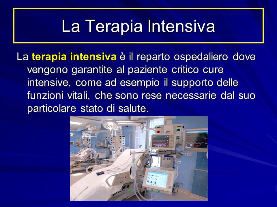 La terapia intensiva è il reparto ospedaliero dove vengono garantite al paziente critico cure intensive, come ad esempio il supporto delle funzioni vi