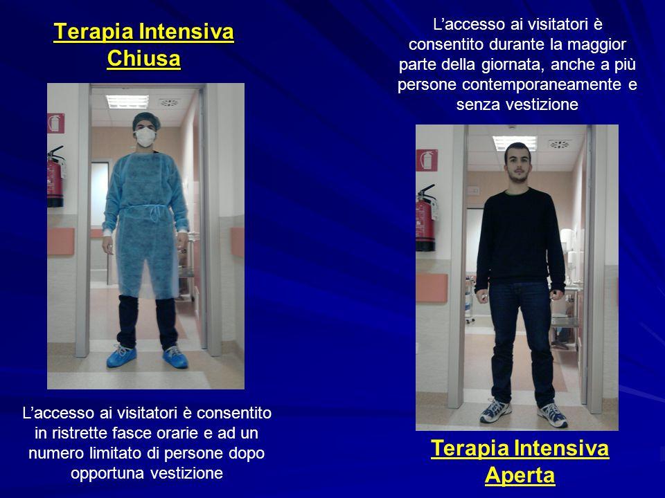 Terapia Intensiva Chiusa Terapia Intensiva Aperta L'accesso ai visitatori è consentito durante la maggior parte della giornata, anche a più persone co