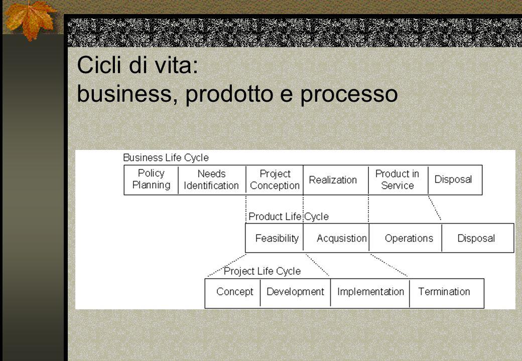 Cicli di vita: business, prodotto e processo