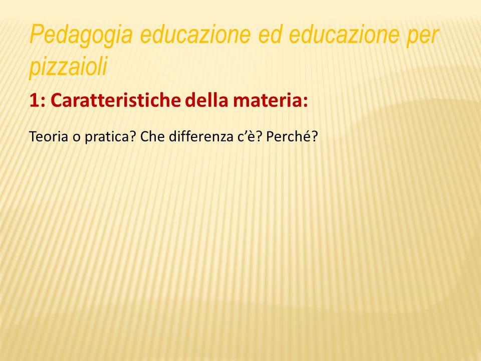 1: Caratteristiche della materia: Teoria o pratica.