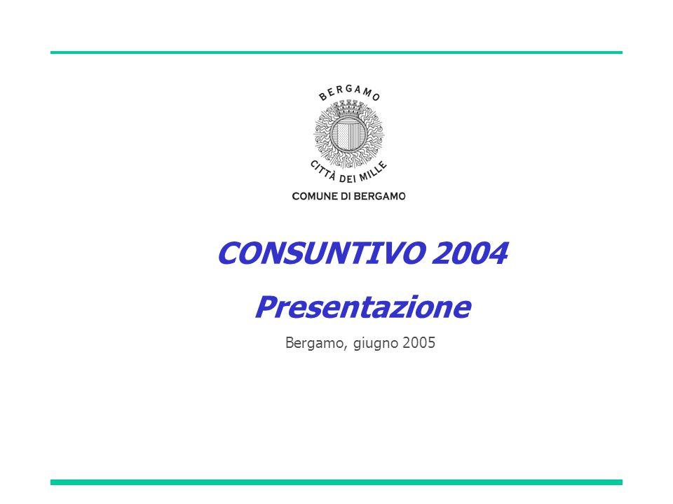 CONSUNTIVO 2004 Presentazione Bergamo, giugno 2005