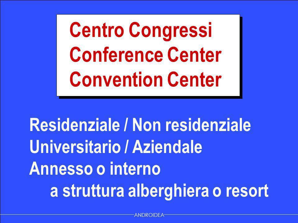 Residenziale / Non residenziale Universitario / Aziendale Annesso o interno a struttura alberghiera o resort ANDROIDEA Centro Congressi Conference Cen
