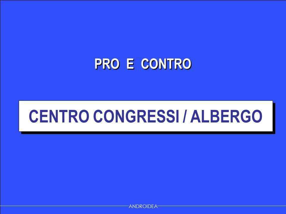 PRO E CONTRO CENTRO CONGRESSI / ALBERGO ANDROIDEA