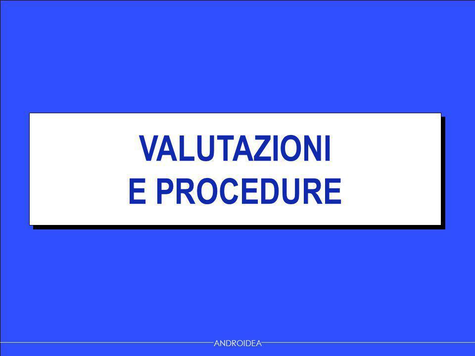 VALUTAZIONI E PROCEDURE VALUTAZIONI E PROCEDURE ANDROIDEA