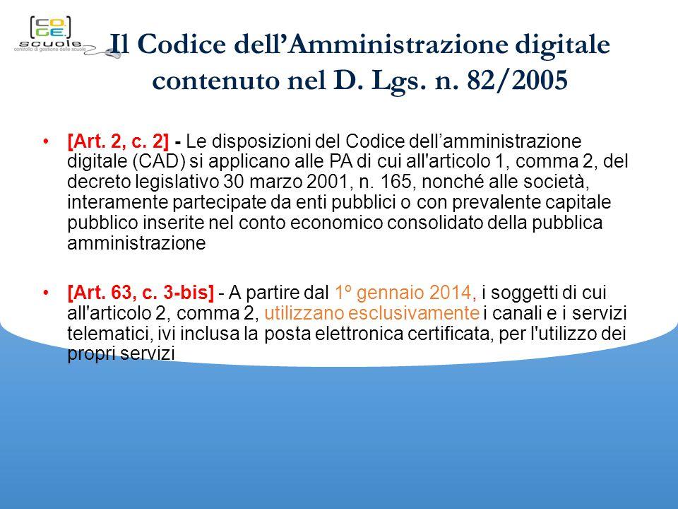 Il Codice dell'Amministrazione digitale contenuto nel D.