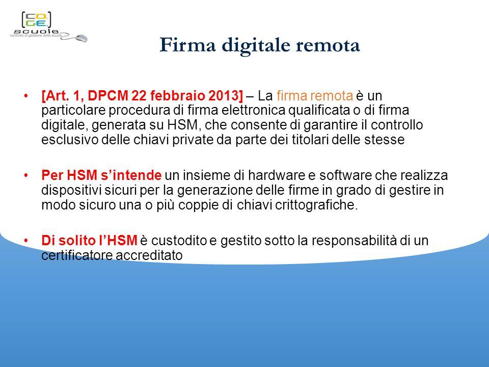 Firma digitale remota [Art.