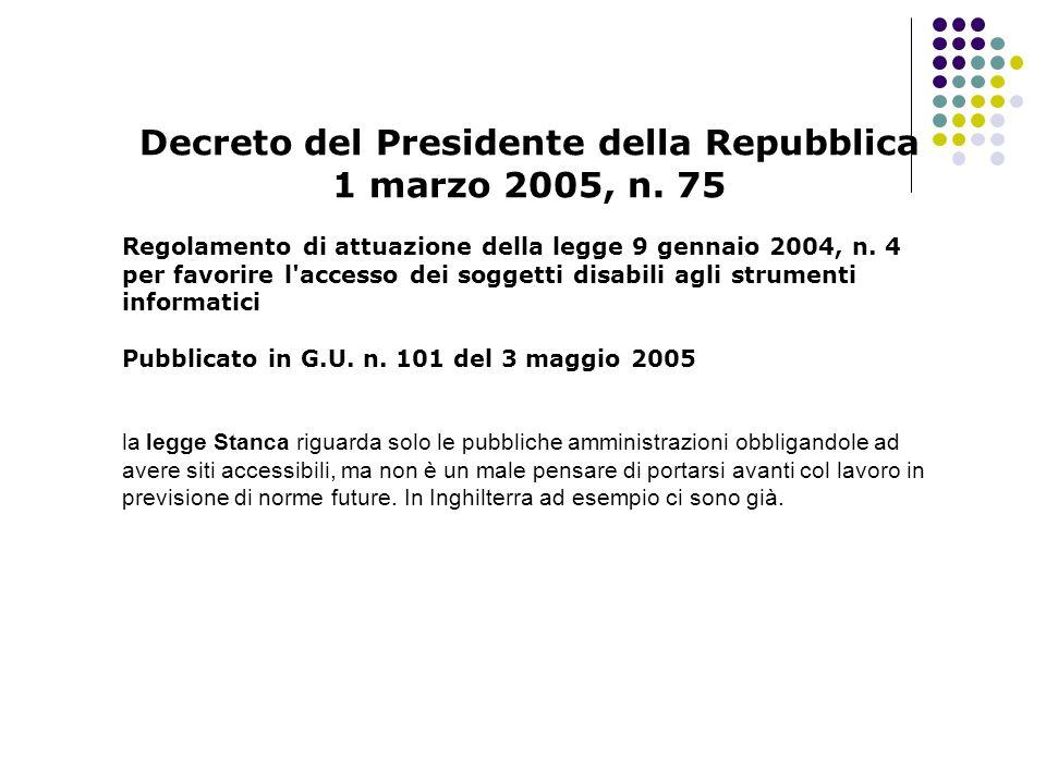 Decreto del Presidente della Repubblica 1 marzo 2005, n.