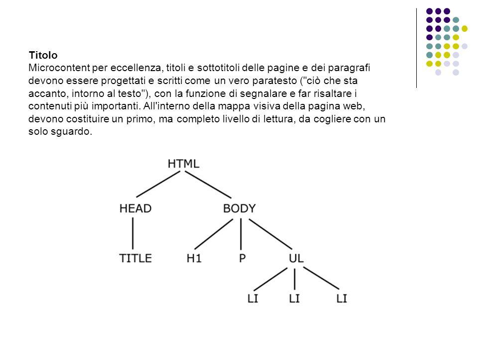 PULIZIA DEL CONTENUTO Colore Grassetto Punteggiatura Font (Verdana - grandezza)