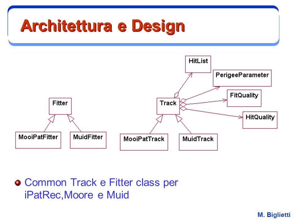 M. Biglietti Architettura e Design Common Track e Fitter class per iPatRec,Moore e Muid