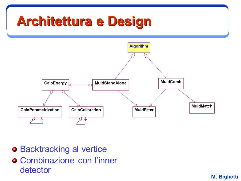 M. Biglietti Architettura e Design Backtracking al vertice Combinazione con l'inner detector