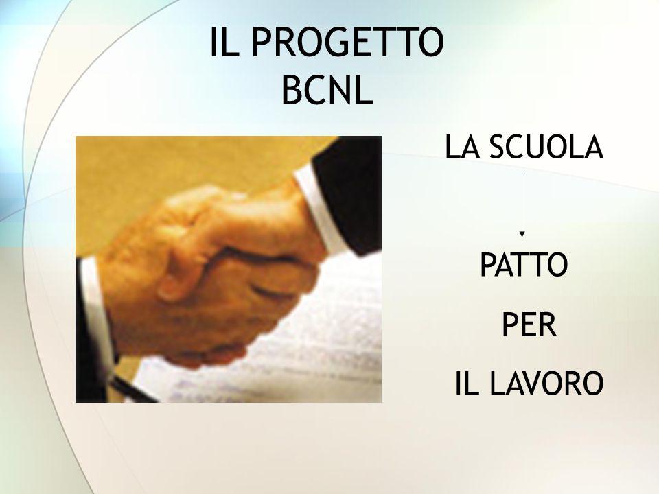 IL PROGETTO BCNL LA SCUOLA PATTO PER IL LAVORO