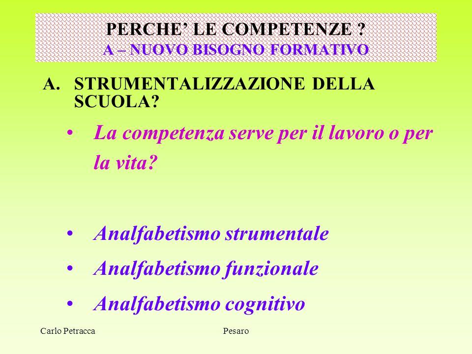 Pesaro AMBIENTE DI APPRENDIMENTO Costruire un ambiente educativo di apprendimento significa operare la connessione tra saperi didattici ed organizzativi.