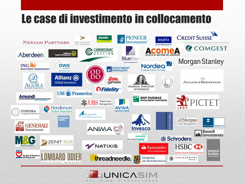 Le case di investimento in collocamento