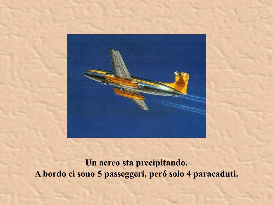Un aereo sta precipitando. A bordo ci sono 5 passeggeri, peró solo 4 paracaduti.