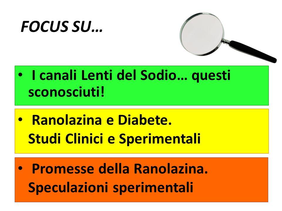 I canali Lenti del Sodio… questi sconosciuti! Ranolazina e Diabete. Studi Clinici e Sperimentali Promesse della Ranolazina. Speculazioni sperimentali