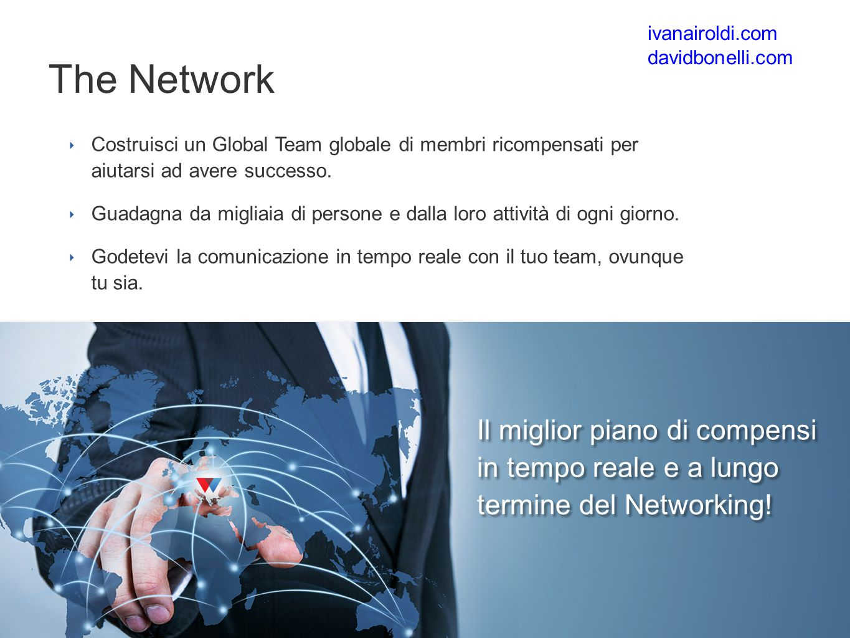 ‣ Costruisci un Global Team globale di membri ricompensati per aiutarsi ad avere successo.