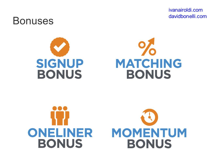 Bonuses ivanairoldi.com davidbonelli.com