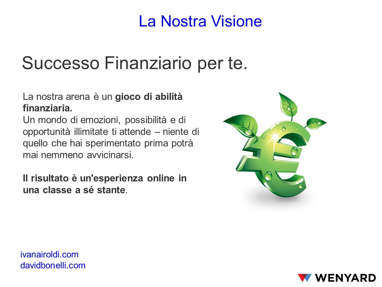Successo Finanziario per te. La nostra arena è un gioco di abilità finanziaria.