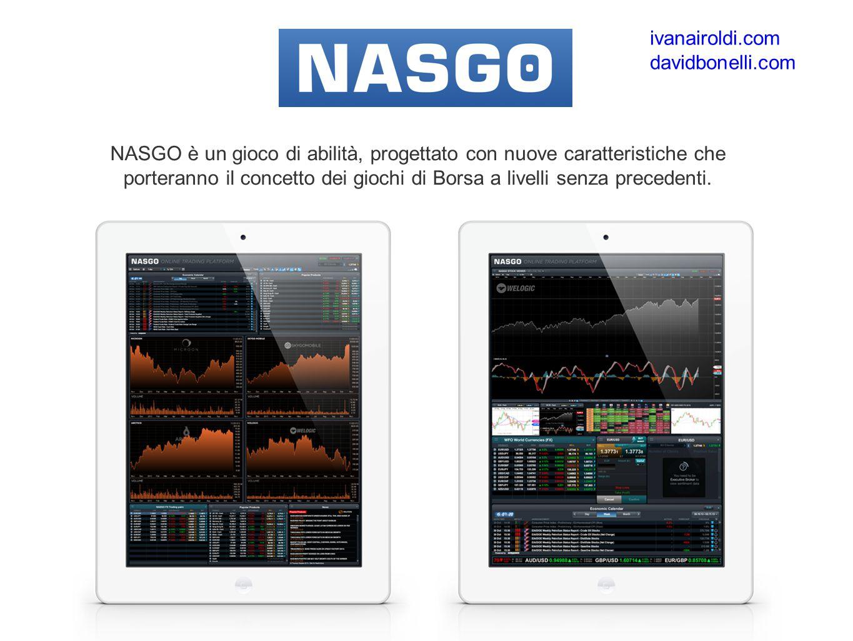 NASGO è un gioco di abilità, progettato con nuove caratteristiche che porteranno il concetto dei giochi di Borsa a livelli senza precedenti.