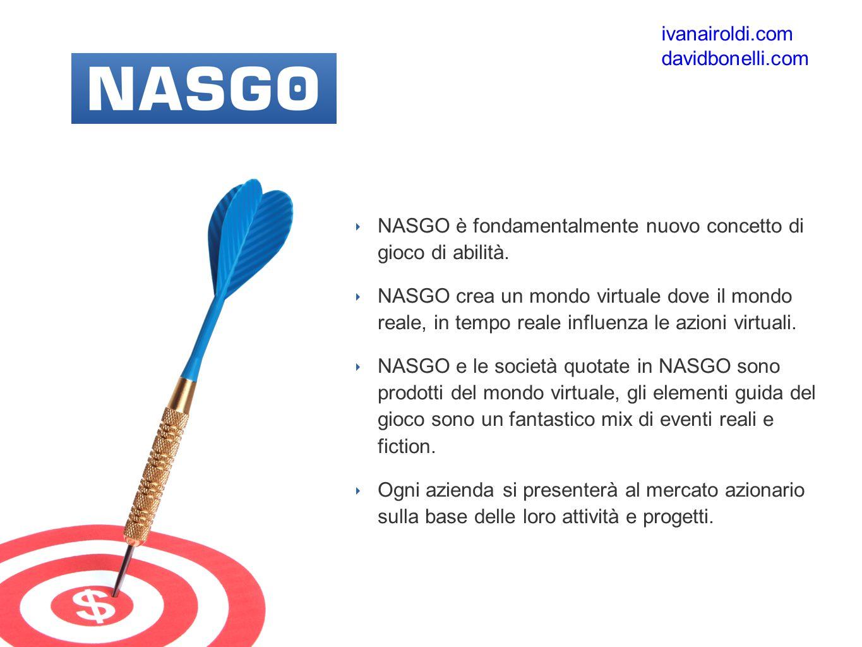 ‣ NASGO è fondamentalmente nuovo concetto di gioco di abilità.