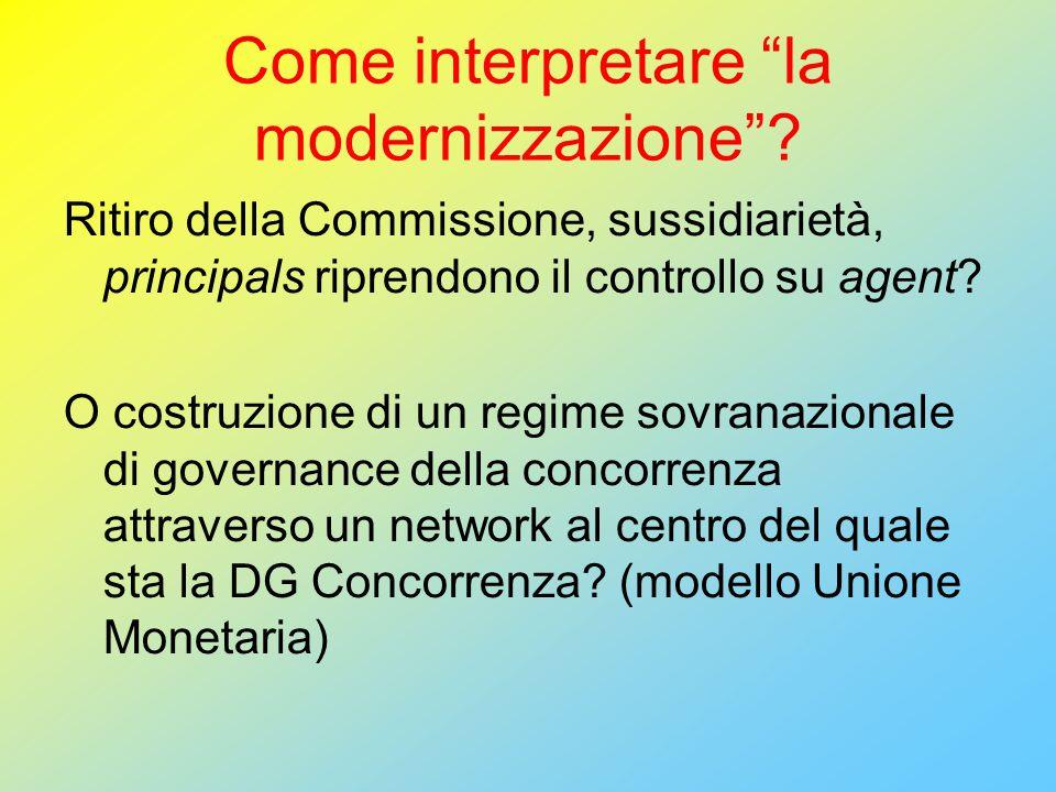 Come interpretare la modernizzazione .