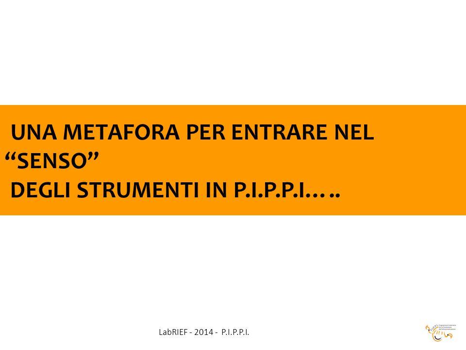 UNA METAFORA PER ENTRARE NEL SENSO DEGLI STRUMENTI IN P.I.P.P.I….. LabRIEF - 2014 - P.I.P.P.I.