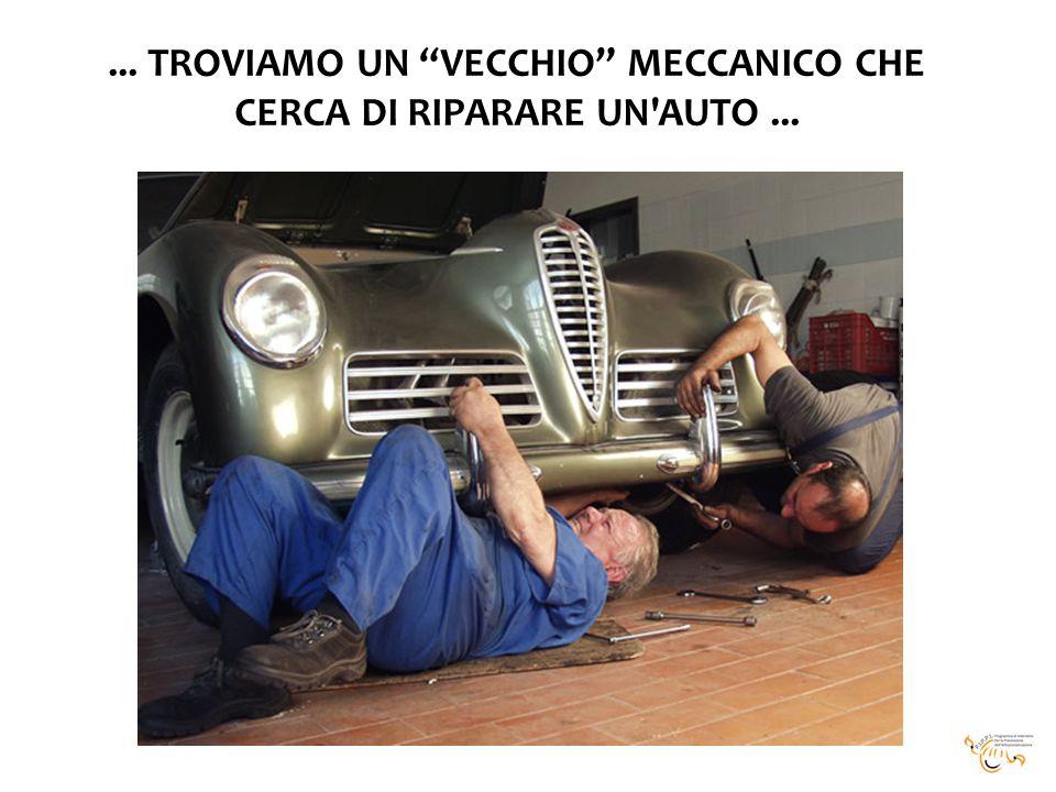 ... TROVIAMO UN VECCHIO MECCANICO CHE CERCA DI RIPARARE UN AUTO...
