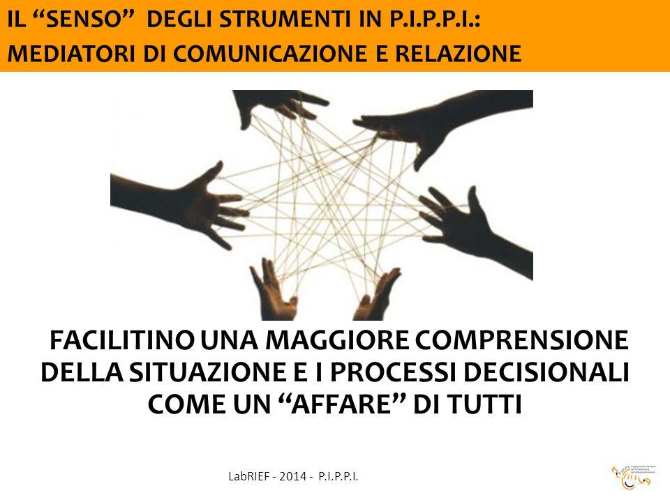 FACILITINO UNA MAGGIORE COMPRENSIONE DELLA SITUAZIONE E I PROCESSI DECISIONALI COME UN AFFARE DI TUTTI LabRIEF - 2014 - P.I.P.P.I.