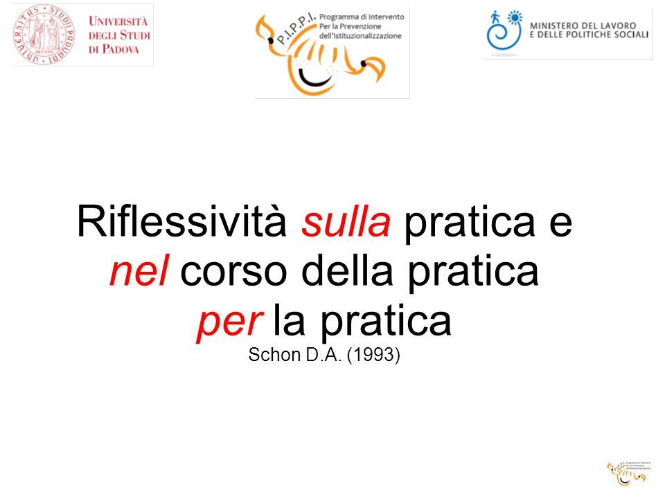 Riflessività sulla pratica e nel corso della pratica per la pratica Schon D.A. (1993)