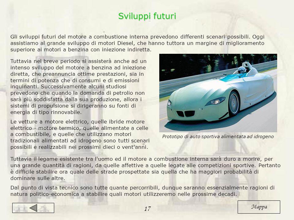 Gli sviluppi futuri del motore a combustione interna prevedono differenti scenari possibili.