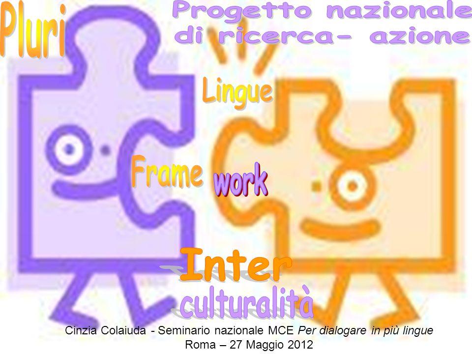 Test OCSE-PISA Prove INVALSI Cinzia Colaiuda - Seminario nazionale MCE Per dialogare in più lingue Roma – 27 Maggio 2012