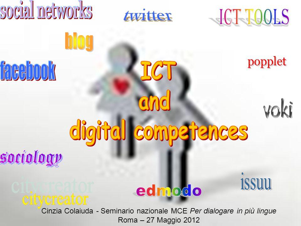 http://www.istruzione.it/web/istruzione/lscpi Cinzia Colaiuda - Seminario nazionale MCE Per dialogare in più lingue Roma – 27 Maggio 2012
