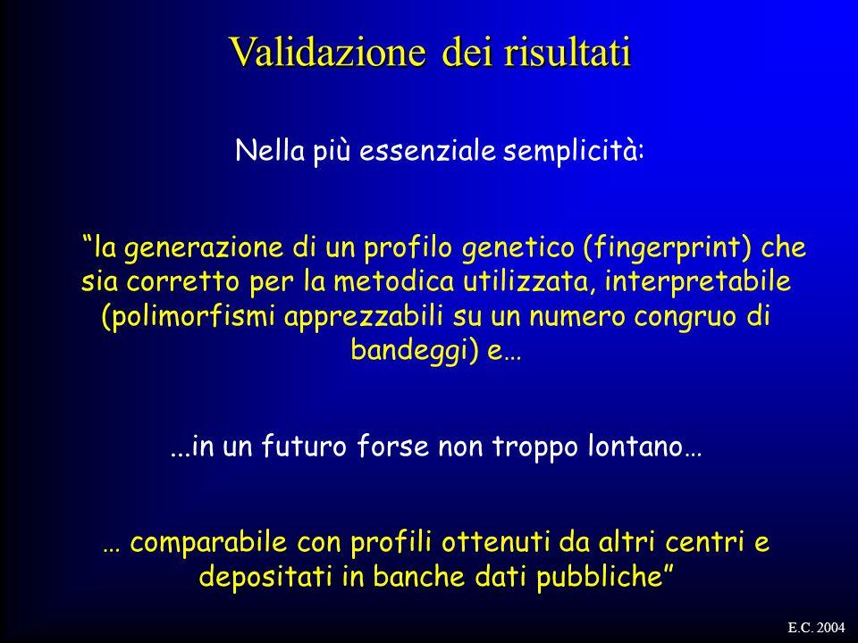 """Nella più essenziale semplicità: """"la generazione di un profilo genetico (fingerprint) che sia corretto per la metodica utilizzata, interpretabile (pol"""