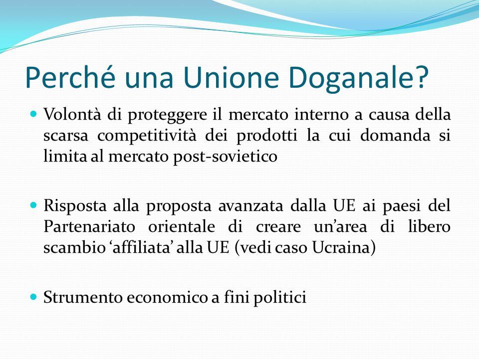 Perché una Unione Doganale.