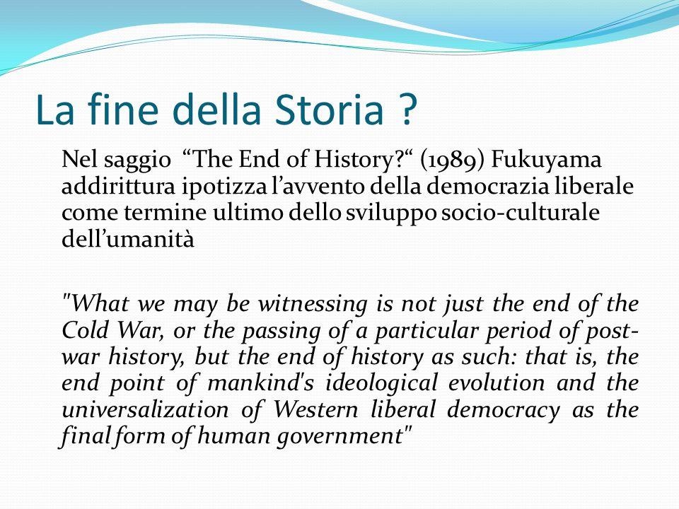 La fine della Storia .