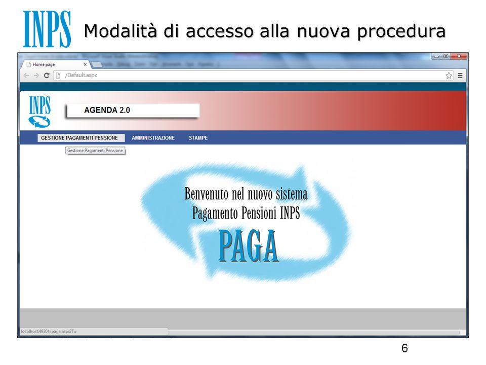 Modalità di accesso alla nuova procedura 6